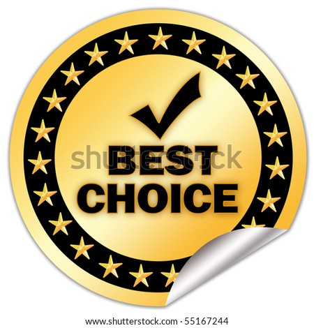 Best choice icon - stock photo