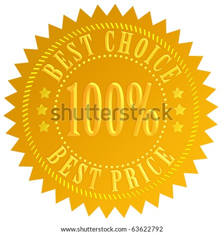 Best choice label - stock photo