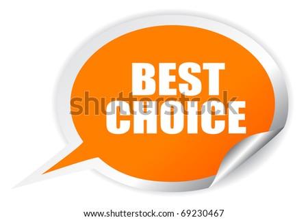 Best choice oval sticker - stock photo