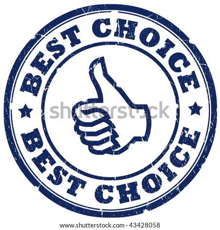 Best choice stamp isolated over white - stock photo