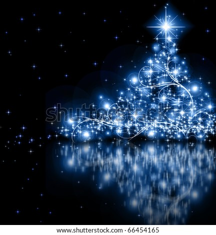 best Christmas tree background - stock photo