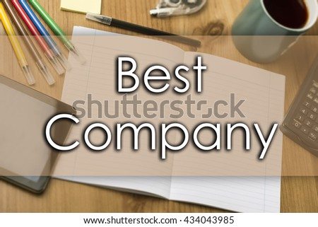 Best Company - business concept with text - horizontal image