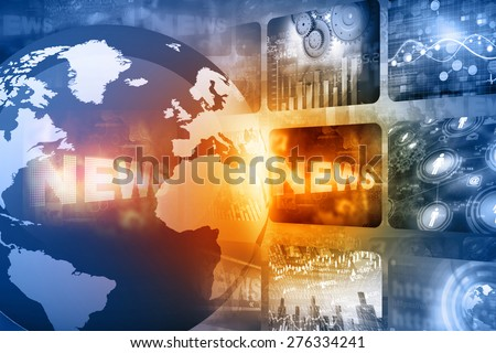 Best design of Global news  - stock photo