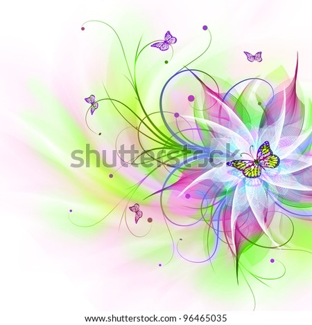 Best floral background - stock photo