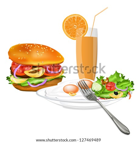 Best food for gourmet.Fast food on a white - stock photo