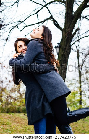Best friends having a good time - stock photo