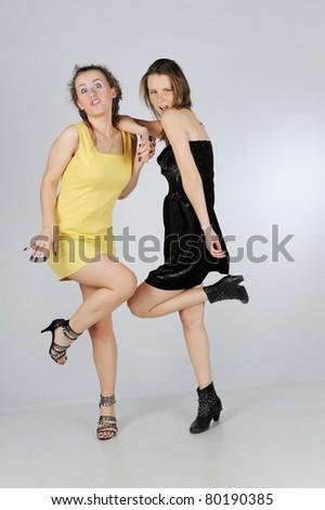 Best friends having fun - stock photo