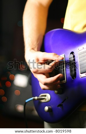 best guitar solo - stock photo