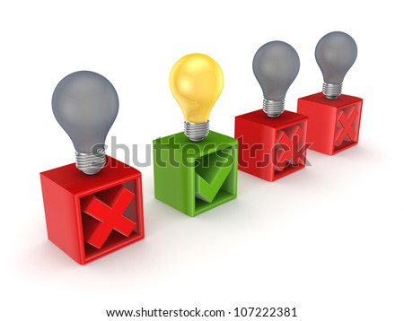 Best idea concept.Isolated on white background.3d rendered. - stock photo