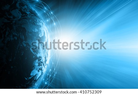 Best Internet Concept of global business from concepts series, connection symbols communication lines.  Elements of this image furnished by NASA - stock photo