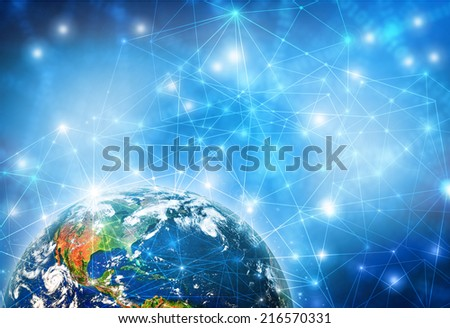 Best Internet Concept of global business from concepts series. (Elements of this image furnished by NASA)  - stock photo