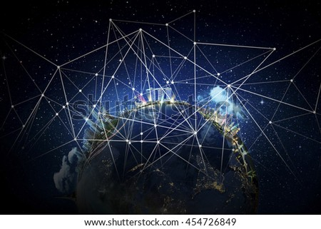 Best Internet Concept of global business from concepts series. Elements of this image furnished by NASA - stock photo