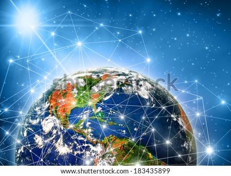 Best Internet Concept of global business from concepts series. Planet earth. Best Concept of global business from concepts series.(Elements of this image furnished by NASA) - stock photo