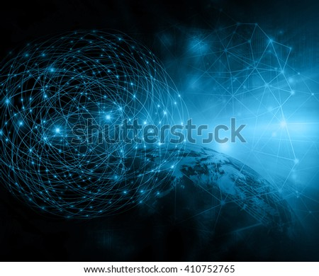 Best Internet Concept of global business.Technological background. Electronics, Wi-Fi, rays, symbols of the Internet, television, mobile and satellite communications - stock photo