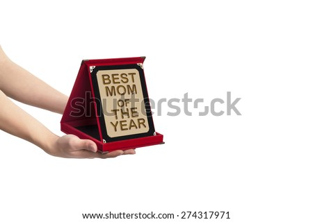 Best Mom Reward (file includes clipping path) - stock photo