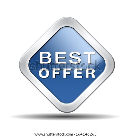 best offer lowest price and best value for the money web shop icon or online promotion button, sticker or sign for internet webshop - stock photo