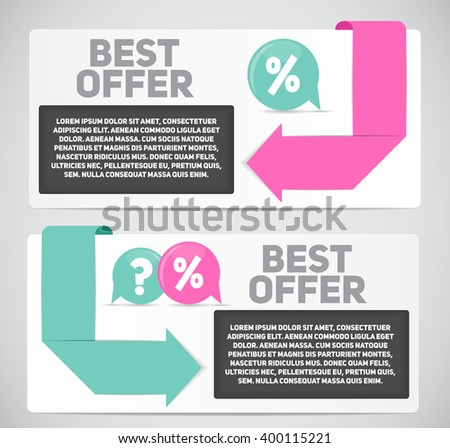 Best Offer Sale Banner with Place for Your Text. Illustration  - stock photo