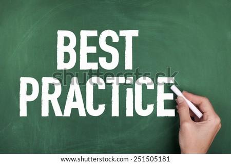 Best Practice - stock photo