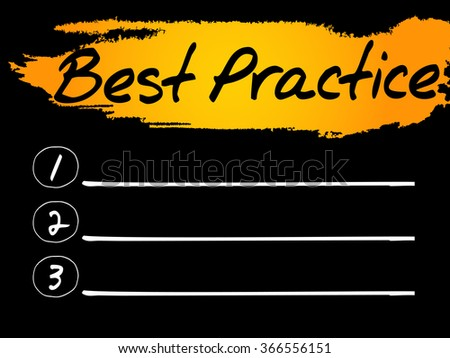 Best Practice Blank List, concept background - stock photo