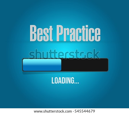 best practice loading bar sign concept illustration design graphic