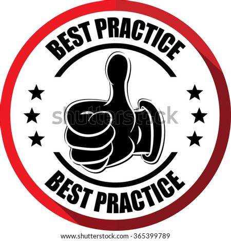 Best practice red, Button,label and sign. - stock photo