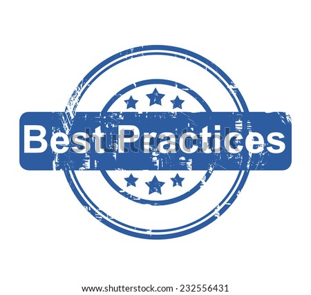 Best Practices business concept stamp with stars isolated on a white background. - stock photo