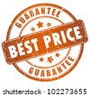 Best price guarantee stamp - stock vector