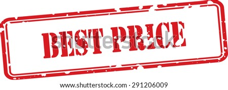 Best price red grunge rubber stamp on white background. - stock photo