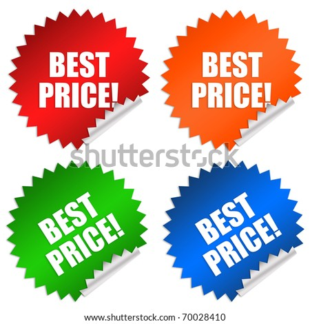 Best price sticker - stock photo