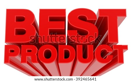 BEST PRODUCT word on white background 3d rendering