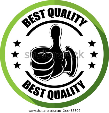 Best quality green, Button, label and sign. - stock photo