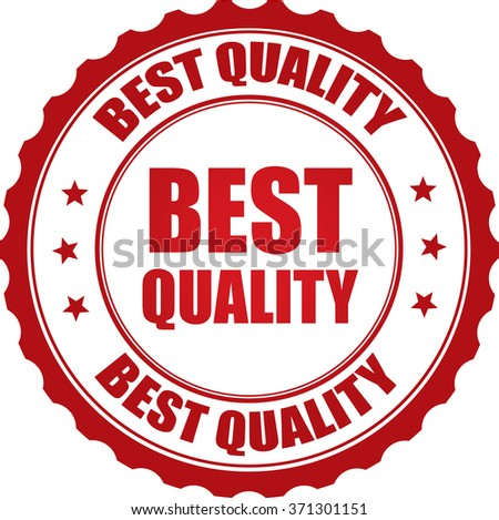 Best quality stamp. - stock photo