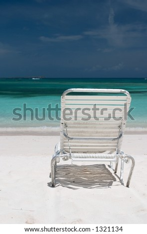 Best Seat on the Beach - stock photo
