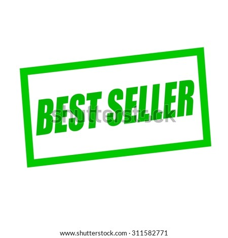 best seller green stamp text on white