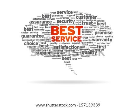 Best Service - stock photo