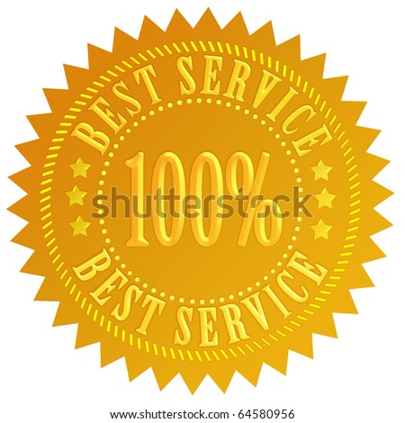 Best service seal - stock photo