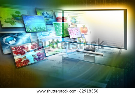 Best television and internet production technology concept - stock photo