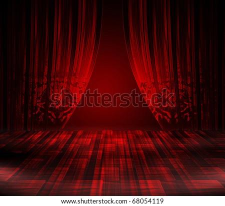 best theater scene - stock photo