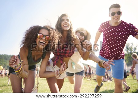 Best time only with my best friends - stock photo