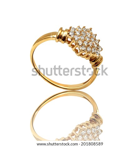 Best wedding and engagement ring - stock photo