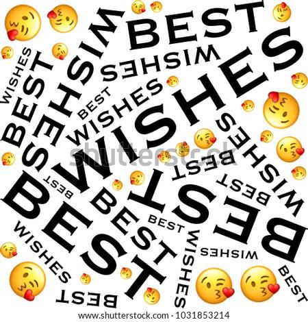 Best Wishes Words Symbol Illustration On Stock Illustration ...