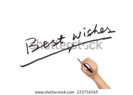 Best wishes words written on white paper - stock photo