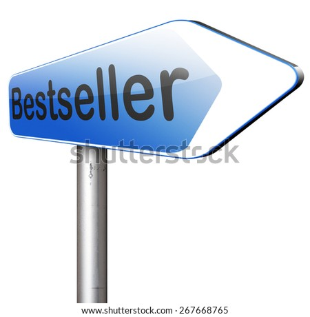 bestseller best seller top product or book, most wanted item highest quality nd best value - stock photo