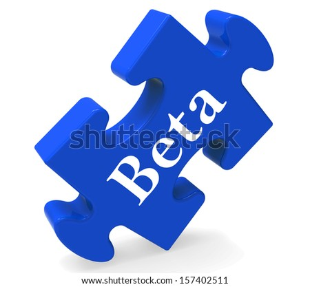 Beta Puzzle Showing Demo Software Or Development - stock photo