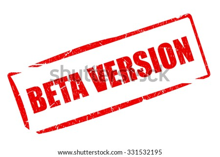 Beta version stamp - stock photo