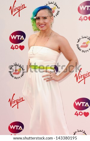 Bethanie Mattek-Sands arriving for the WTA Pre-Wimbledon Party 2013 at the Kensington Roof Gardens, London. 20/06/2013 - stock photo