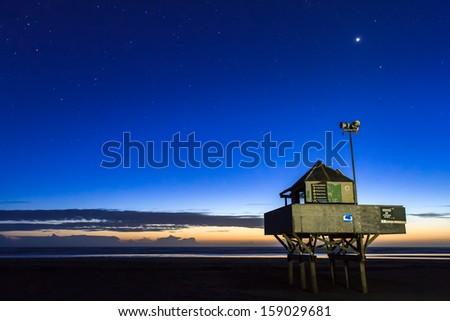 Bethells Beach (Te Henga) at Night, Auckland, New Zealand - stock photo
