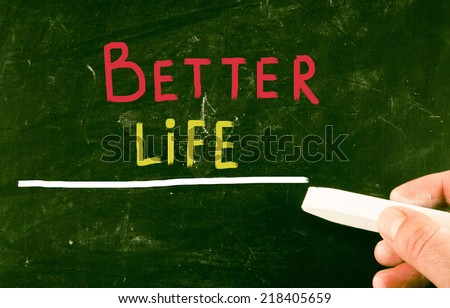 better life concept - stock photo