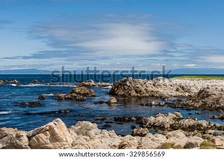 Between Bird Rock and Point Joe, 17 Mile Drive, California, USA - July 1, 2012: The 17 Mile Drive is a scenic road through Pacific Grove and Pebble Beach in Big Sur, Monterey, California, USA. - stock photo