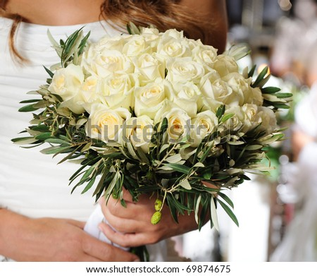 beuatiful roses in a wedding ceremony - stock photo